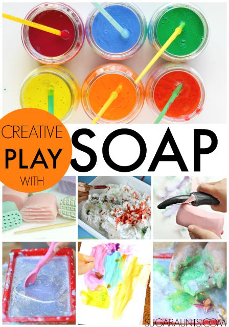 Creative play and craft ideas using soap. great gift idea for kids, nieces, nephews, teachers, therapists