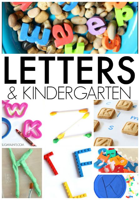Kindergarten Letter activities for letter learning