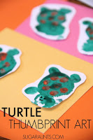 turtle thumbprint craft