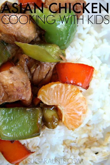 Asian Chicken recipe for kids and families, part of the Cooking with Kids A-Z series where kids can cook their way through the alphabet with healthy meal ideas.