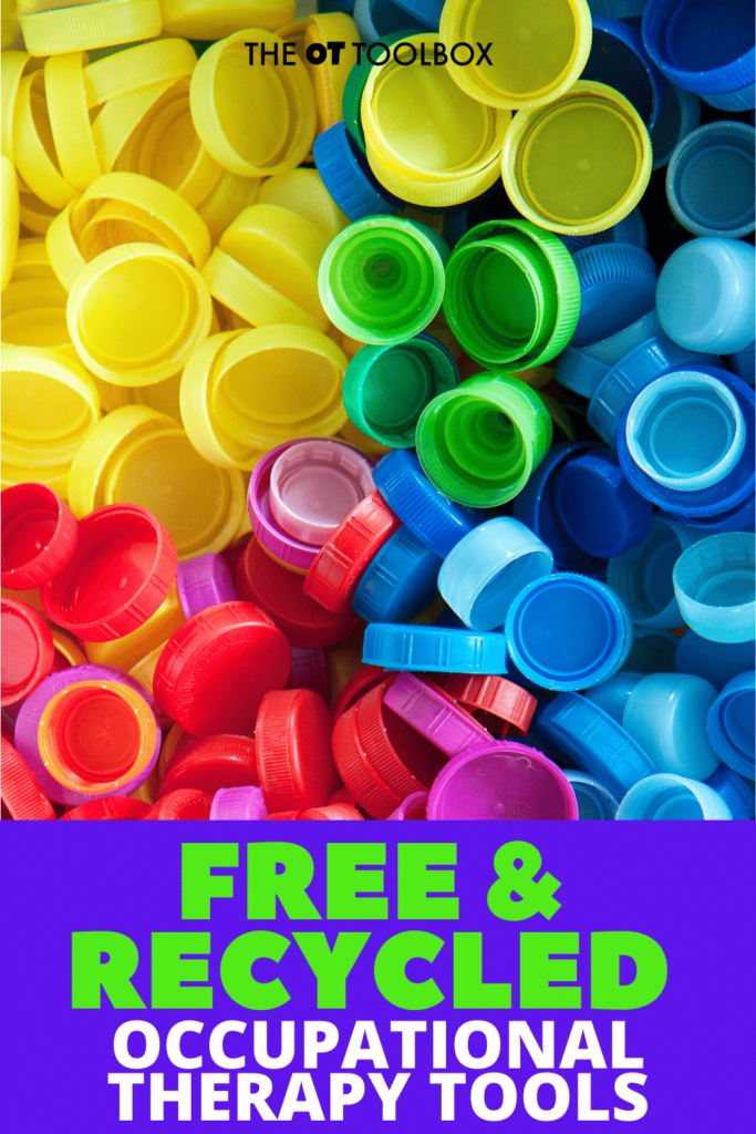 Use these free and recycled items to work on occupational therapy goals