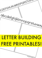 Free letter building printables