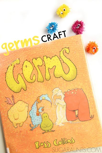 Germs craft and children's book about germs