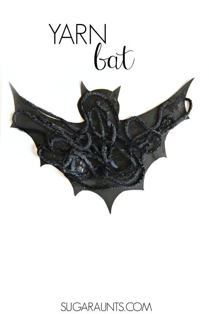 Make this bat craft at a Halloween party for kids for a fun Halloween craft idea that isn't spooky!