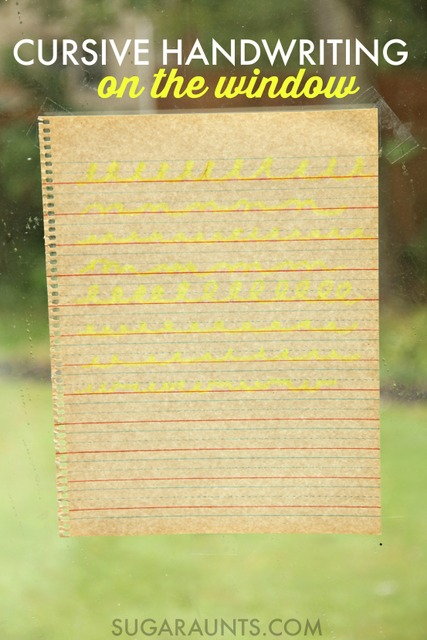 Learn cursive writing with this cursive handwriting activity to learn cursive letters, lines, and connecting lines on the window.