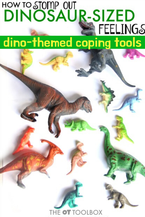 Dinosaur feelings can impact emotional regulation, sensory processing, self-care, and function. Use dinosaur themed activities like these dinosaur heavy work cards as a coping tool.