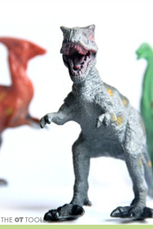 Dinosaur heavy work activities can help as a coping tool for self-regulation in kids.