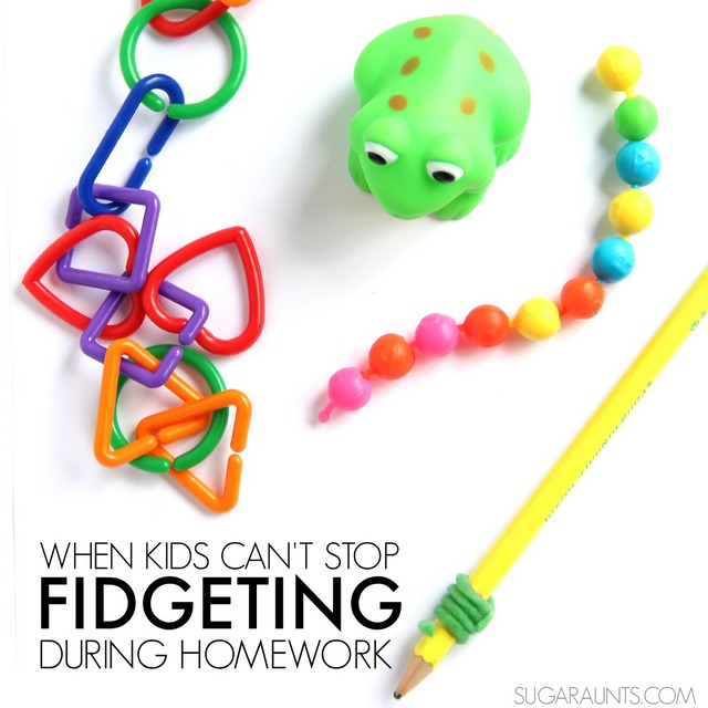 Tips and tools to help with kids who fidget during classroom and homework activities.