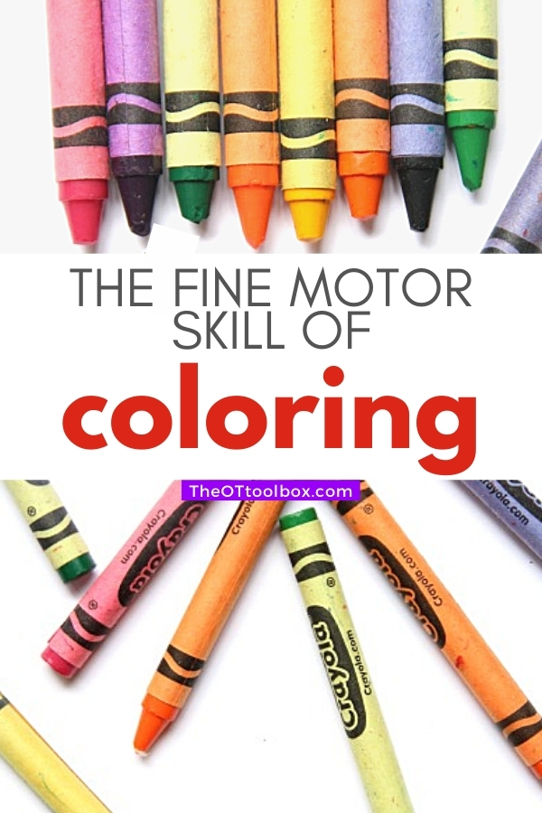 Coloring is a fine motor skill and it helps kids develop other areas.