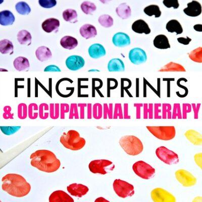 Fingerprint Art from A-Z Fine Motor Finger Isolation