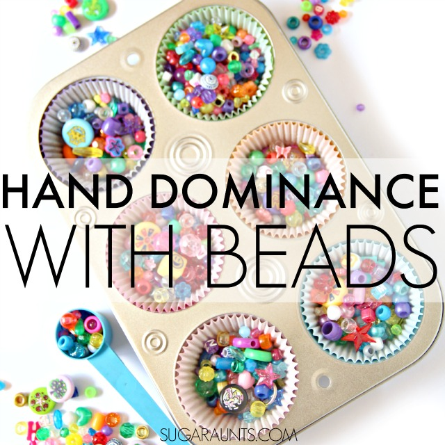 Work on hand dominance, bilateral coordination, motor skills, and more by scooping, pouring, and transferring activities.