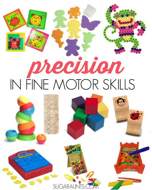 Easy precision in grasp, release, and rotation in fine motor skills for kids.  Precision is so important in dexterity in many skills like handwriting, cutting with scissors, and everything done with the hands!