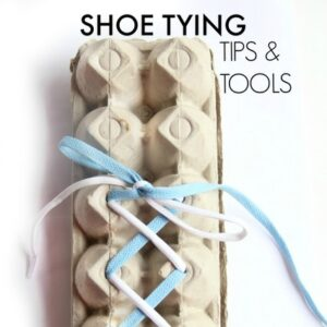 Shoe tying tips for teaching kids to tie their shoes