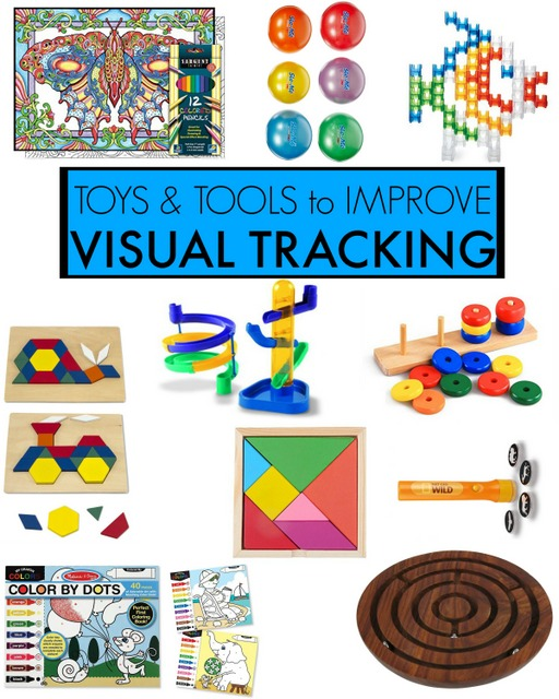 Visual Tracking toys and tools to improve visual fixation, visual tracking, visual saccades, in handwriting, reading, and so many functional daily tasks and skills in kids.