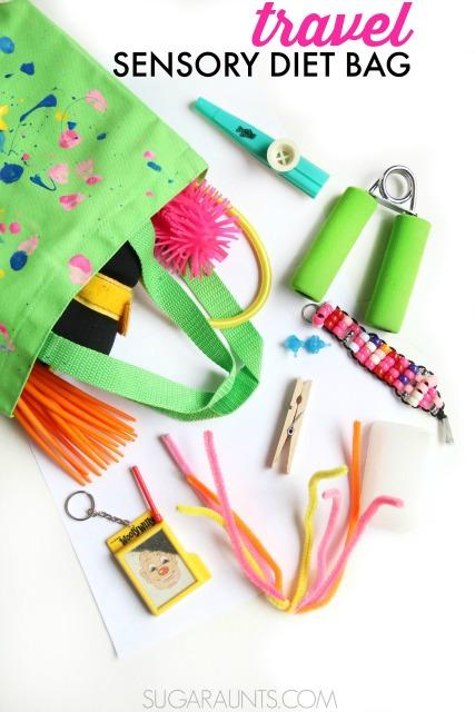 Travel Sensory Diet Bag for on-the-go-sensory needs