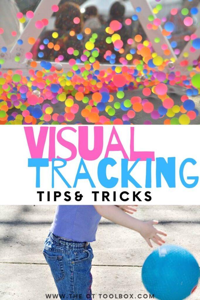 visual tracking activities
