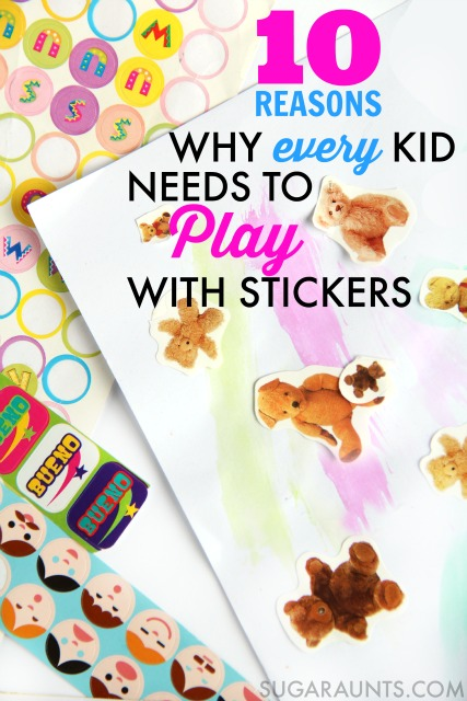 stickers for fine motor and bilateral coordination