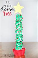 Fine motor Christmas Tree craft