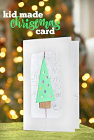 fine motor homemade Christmas card