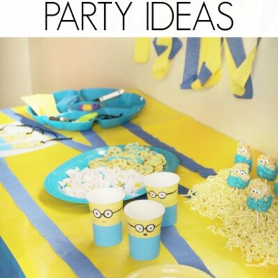 Minion Party with Crafts, Snacks, and Decor