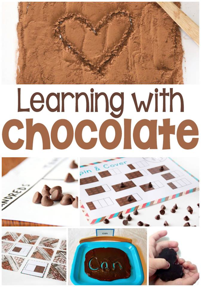 Chocolate learning activities for hands on learning
