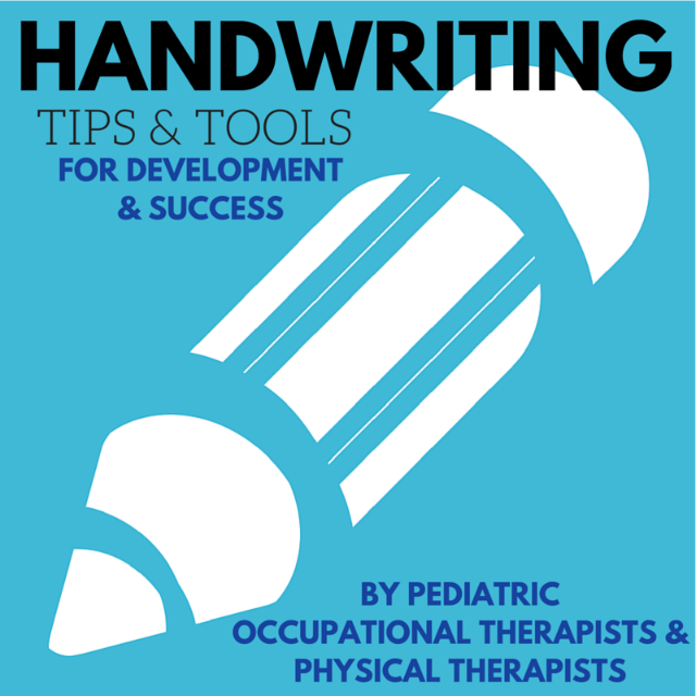 Everything you need to know about handwriting. Fine and gross motor considerations, sensory concerns, developmental progression, creative activities, posture, and more, from pediatric Occupational and Physical Therapist bloggers.