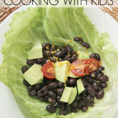 Avocado Black Bean Lettuce Wrap with Orange Zest