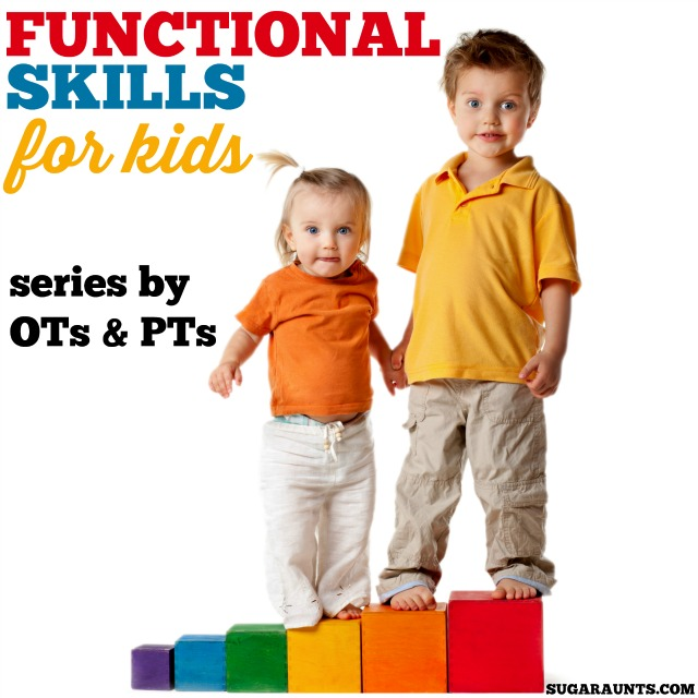 A 12 month series on the Functional Skills of kids, including play, handwriting, school day functions, community, dressing, hygiene, toileting, self-care, and more. By Occupational and Physical Therapists and loaded with tips and ideas for parents, teachers, and therapists who work with kids.