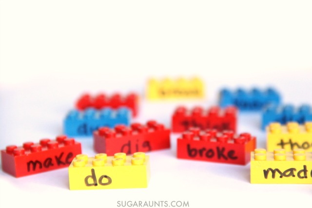 Use LEGOS in this hands-on learning activity to teach and learn about irregular verbs, this is great for second grade!