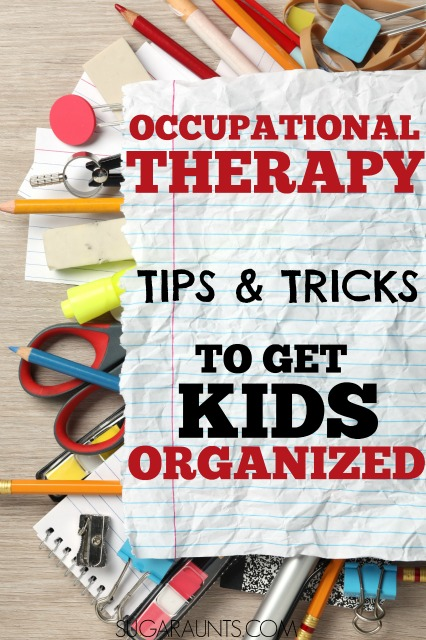 Organization tips for students in the classroom. So many ideas here from an Occupational Therapist on how to help kids with disorganization problems and help students with organizing their school work.