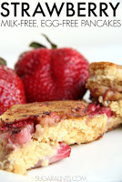 Strawberry Whole Wheat Pancakes