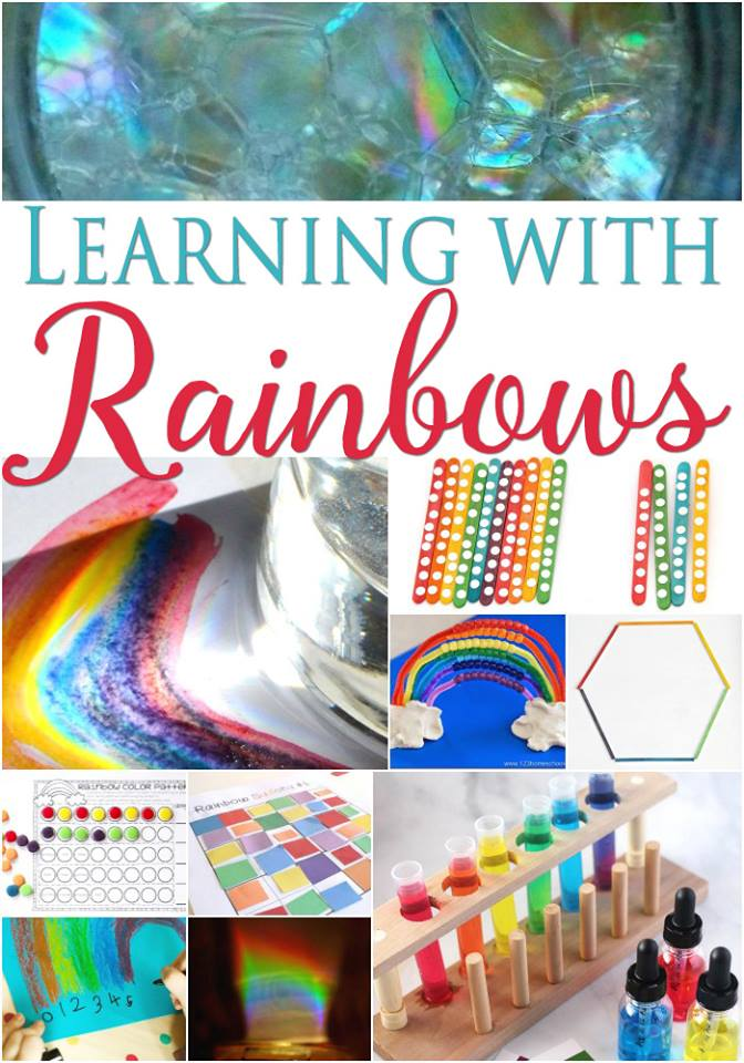 Rainbow learning activities for kids