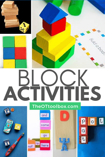 Block activities for helping kids learn and develop motor skills