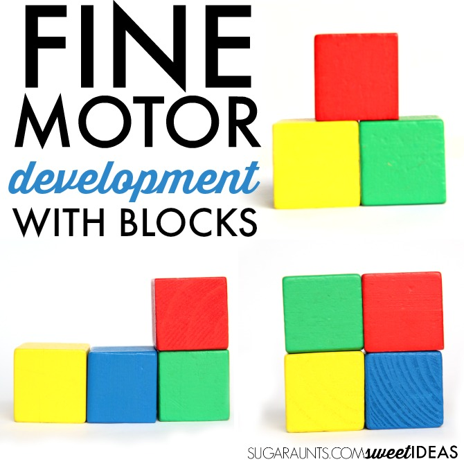 Fine motor skills with blocks