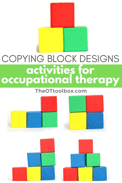 Use these copying block designs occupational therapy activities to help kids develop skills