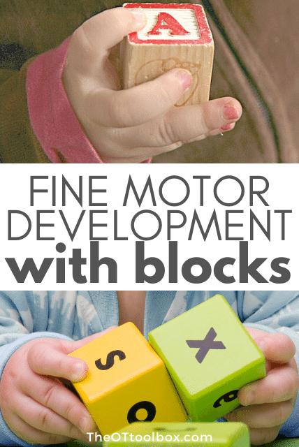 Fine motor development with blocks