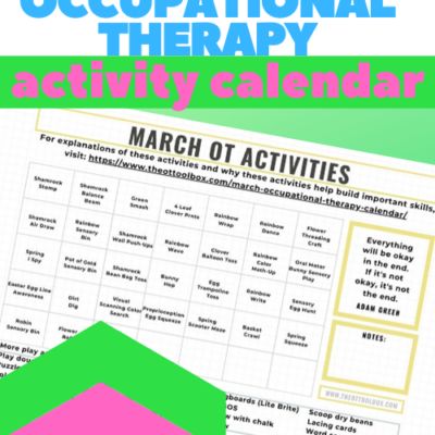 March Occupational Therapy Calendar