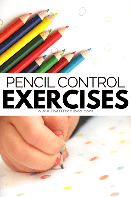 Pencil control exercises with colored pencils