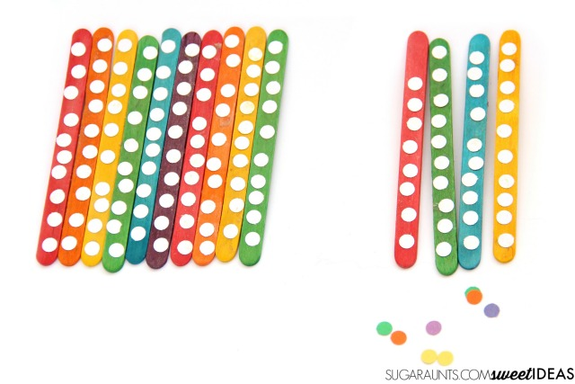 Use this rainbow math hundreds chart to work on building tens and hundreds into a hands-on math hundreds chart activity, perfect for working on important math concepts and fine motor skills with kindergarten, first grade, and second grade!