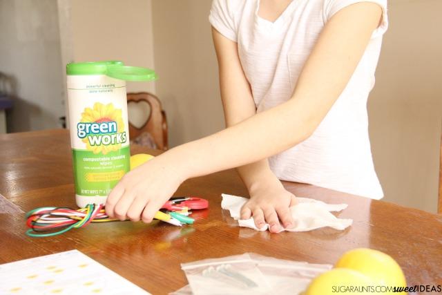 Lemon STEM Science experiment ideas for kids