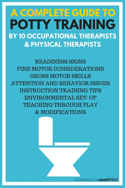 Potty Training tips and ideas to help kids learn to potty train from Occupational Therapists and Physical Therapists