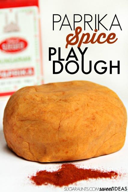 Paprika Spice Natural Play Dough Recipe
