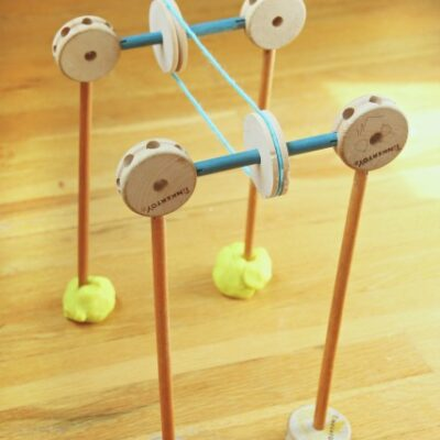 Tinker Toys STEM Pulley