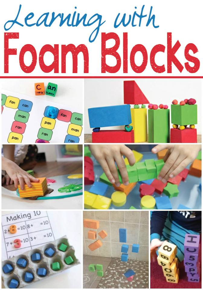learning activities using foam blocks