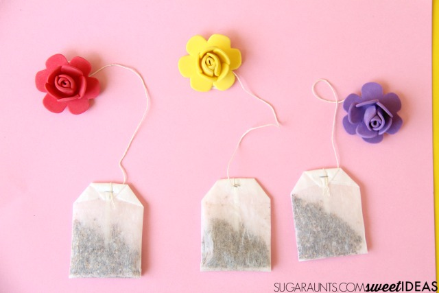 Kids can make this Mother's Day craft to work on fine motor skills.