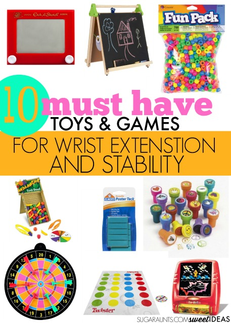 Games for occupational therapy goals in helping with wrist stability