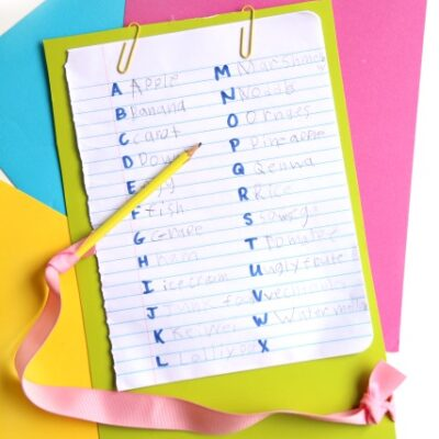 How To Get Your Kids to Practice Handwriting A-Z Writing Activity