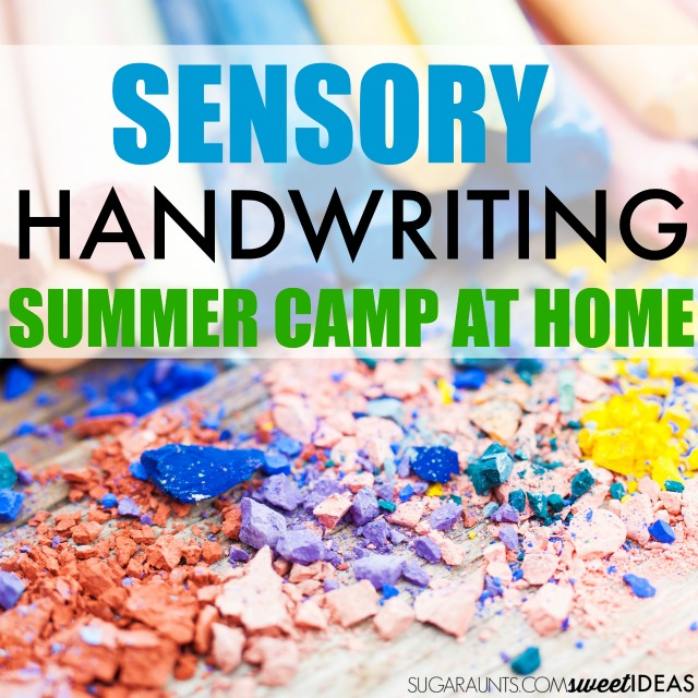 sensory summer camp at home idea for handwriting summer camp for kids using all of the senses to prevent the summer slide.