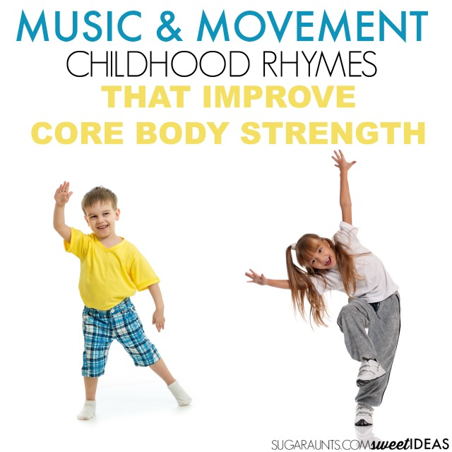 Core strengthening with movement and music rhyming songs for kids