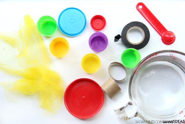Use these recycled materials in an evaporation experiment with preschoolers.